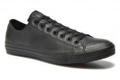 Sneakers Chuck Taylor All Star Monochrome Leather Ox M by ConverseConverseZwartPaar schoenen - Sneakers2286344724244Leer