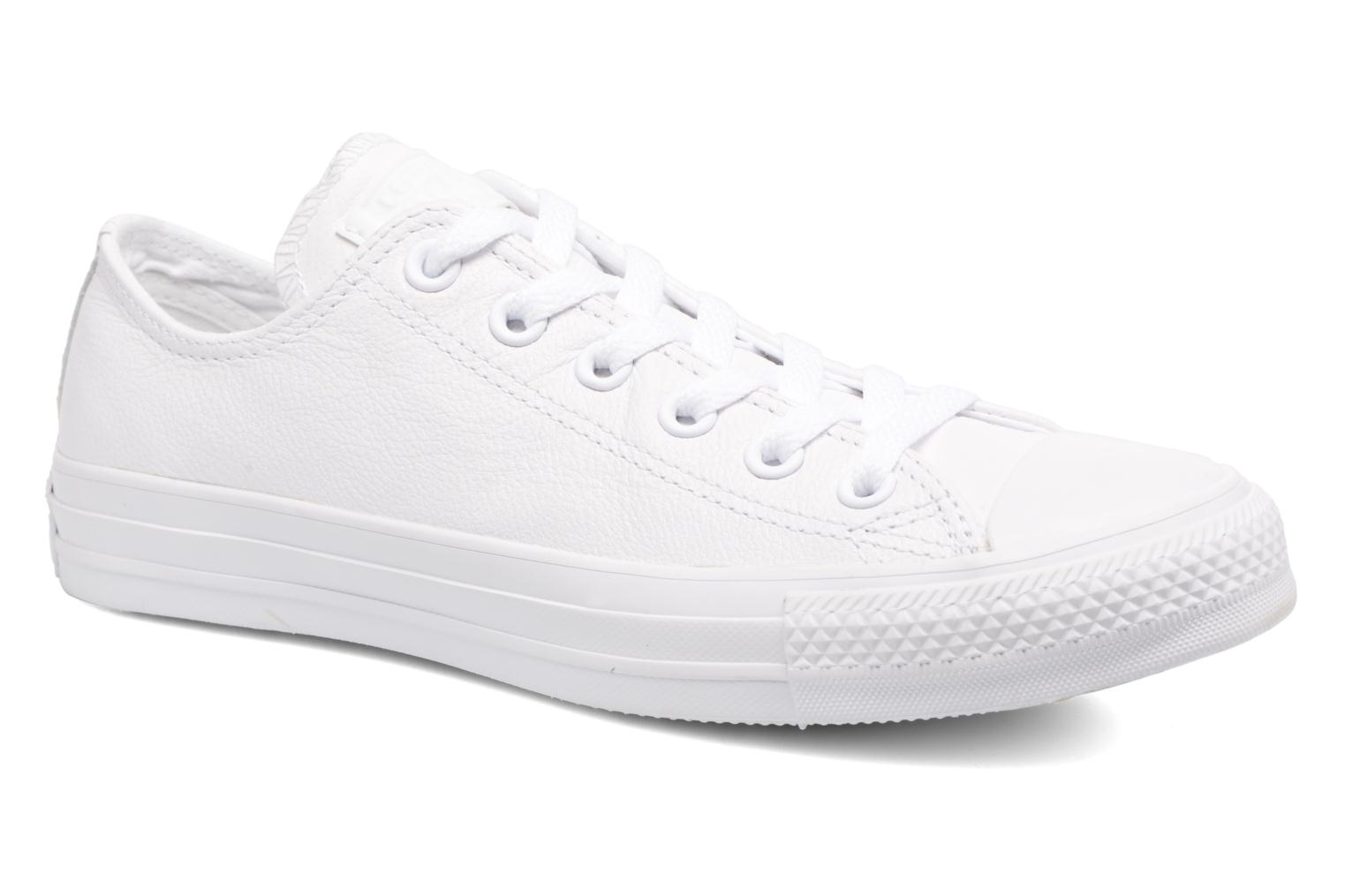 Sneakers Chuck Taylor All Star Monochrome Leather Ox W by ConverseConverseWitPaar schoenen - Sneakers88695195284737 1/2Leer