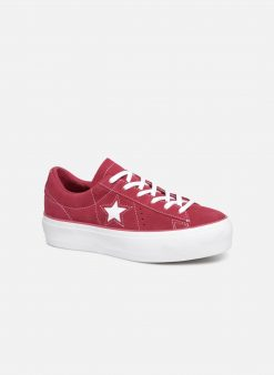 Sneakers One Star Platform Lift Me Up Ox by ConverseConverseBordeauxPaar schoenen - Sneakers88875647509541Textiel