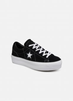 Sneakers One Star Platform Lift Me Up Ox by ConverseConverseZwartPaar schoenen - Sneakers88875632963341Textiel
